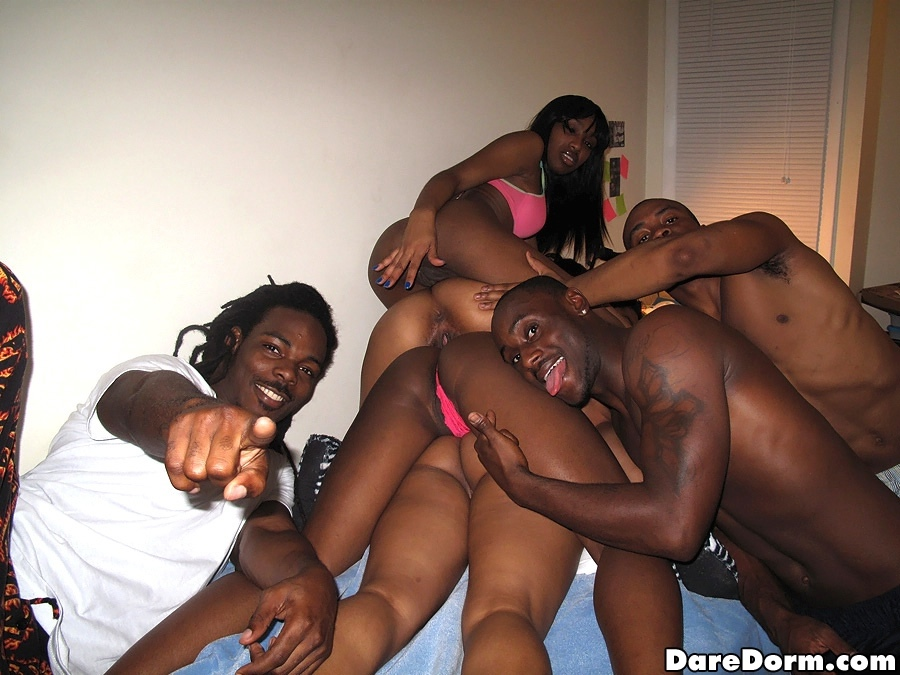 Public sex gangbang with a beautiful black 5 2